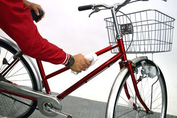 自転車のセルフメンテナンス③本体の拭き掃除