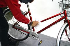 自転車の車体の洗浄