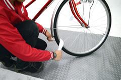 自転車のホイールの洗浄