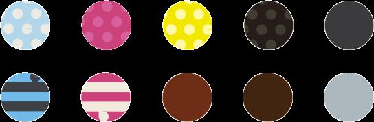 最大10色から選べるクッション