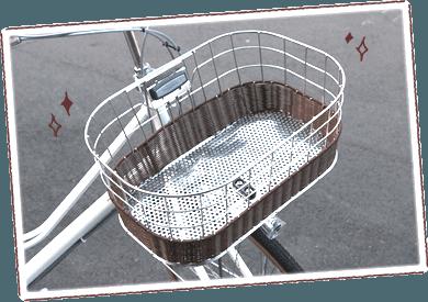 ブリヂストン(BRIDGESTONE)カジュナのかわいいポイント①おしゃれな編込みバスケット